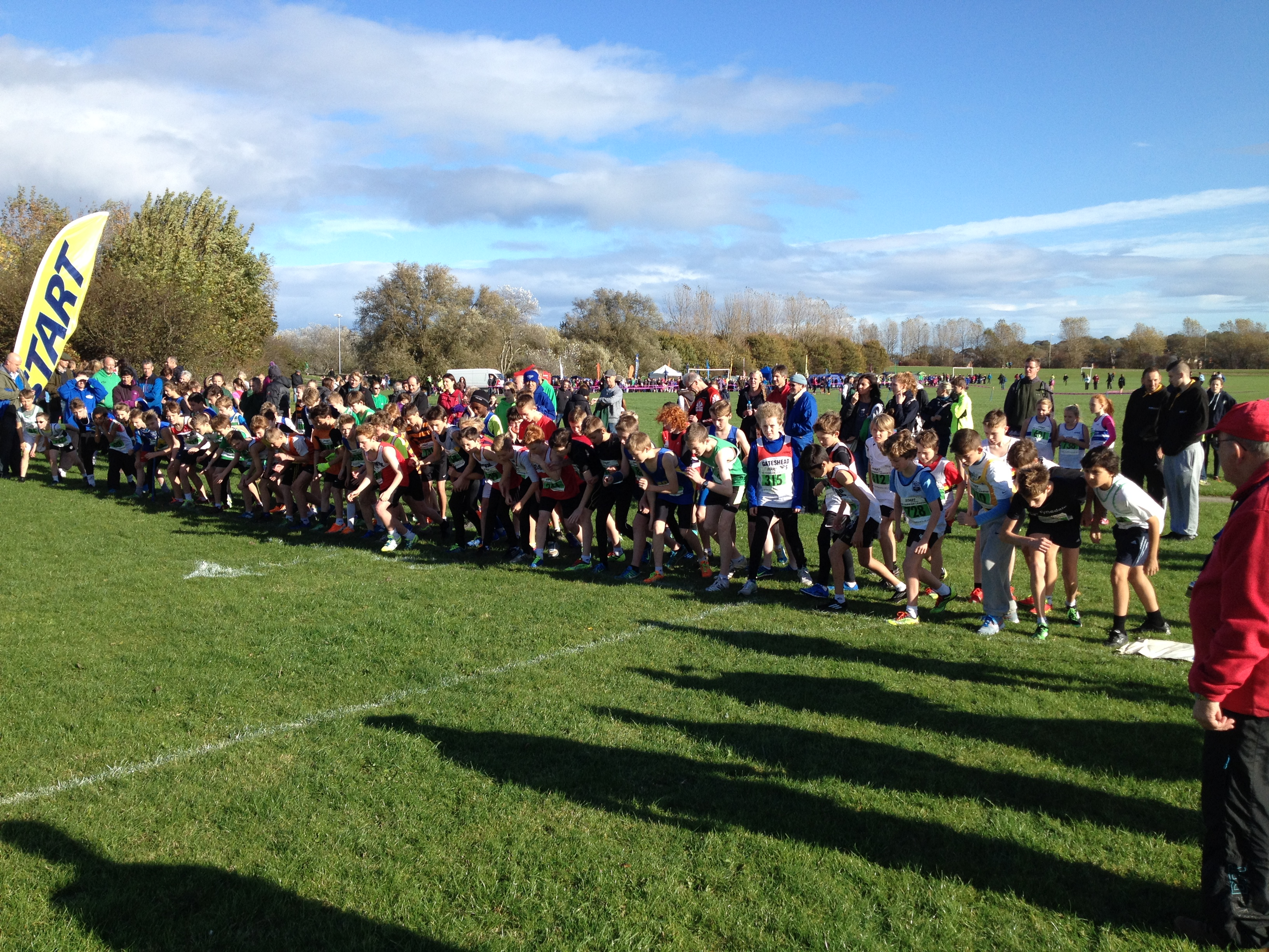 Start of the U13 Boy's race.