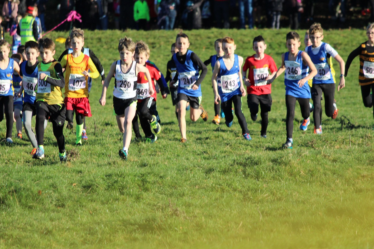 Start of the U11 Boys race