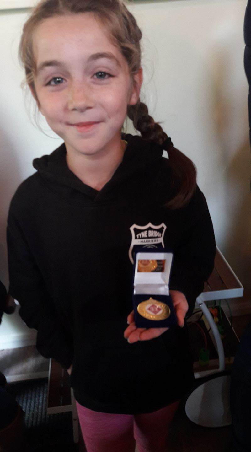 Anna with her Gold Medal