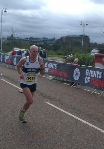 Dave Moir finishing the Marathon.
