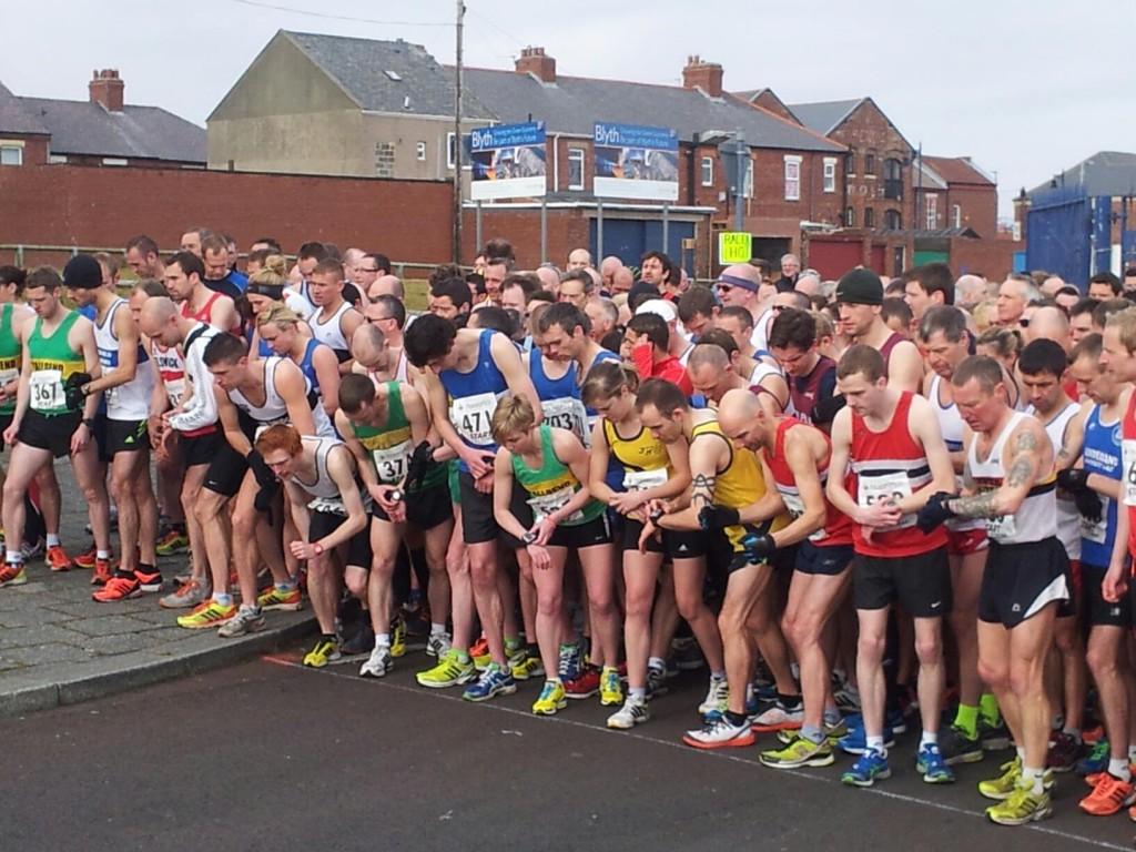 Start line of 2013 Blyth 10k (thanks to Vicki Deritis for photograph)