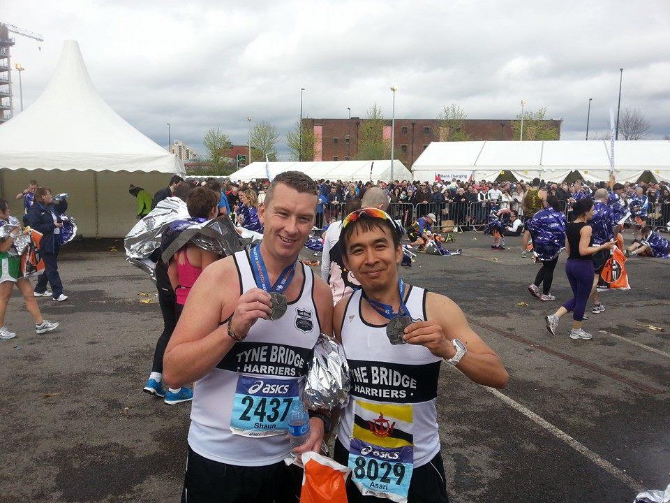 Shaun & Bam post-race