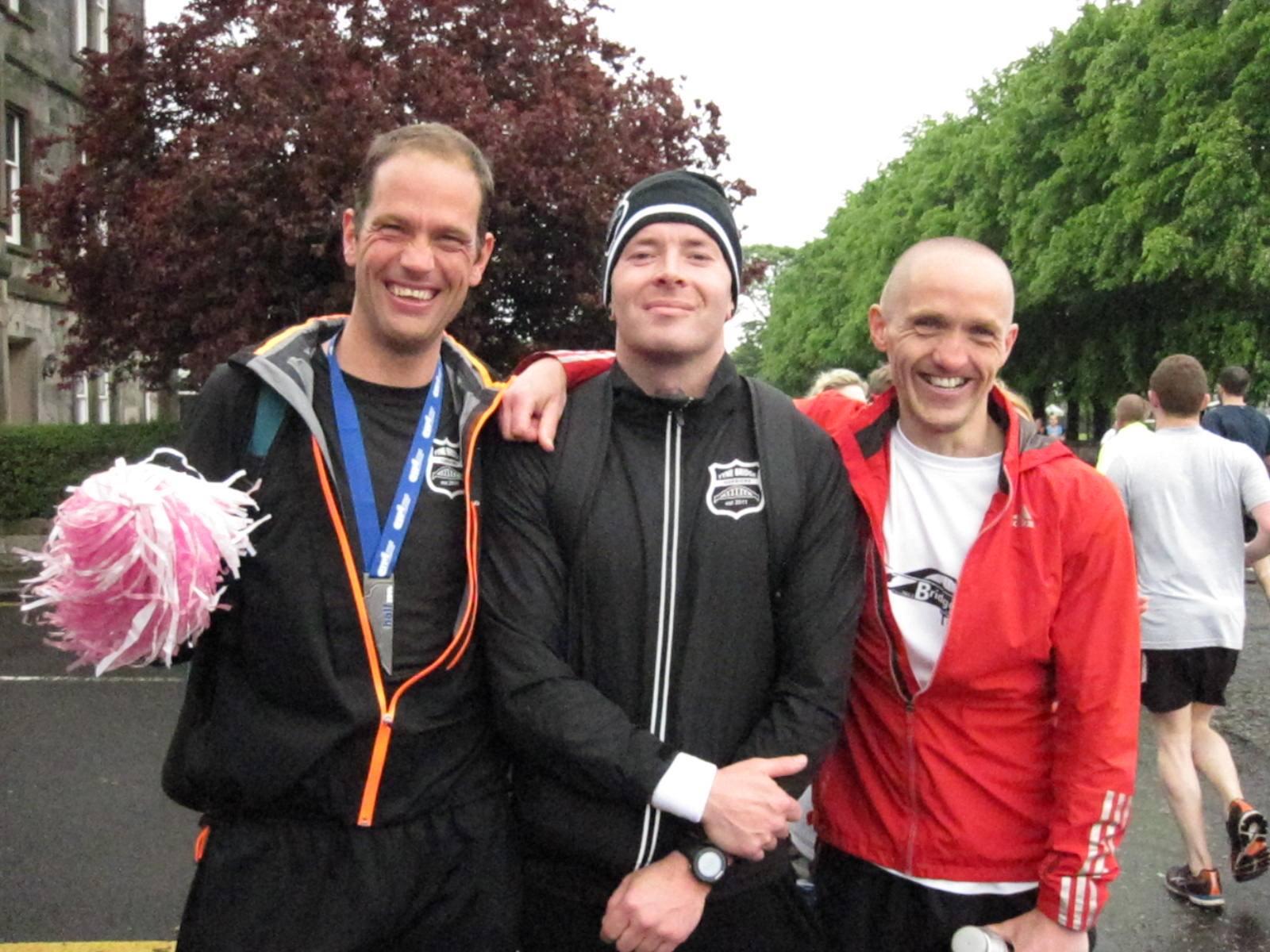 post-race (l-r) Cees, Jon & DD