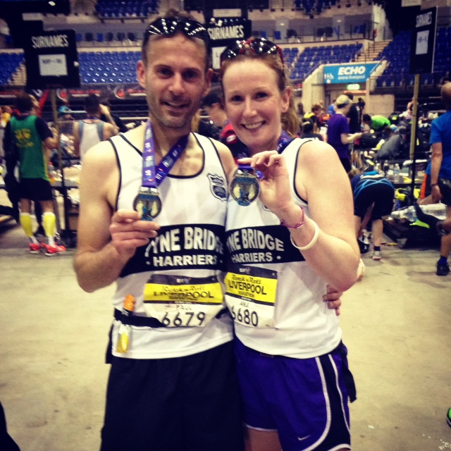 Paul & Anji with their well-earned medals