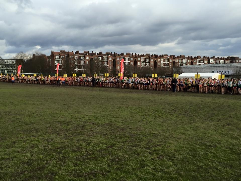 Start line of the Women's race.