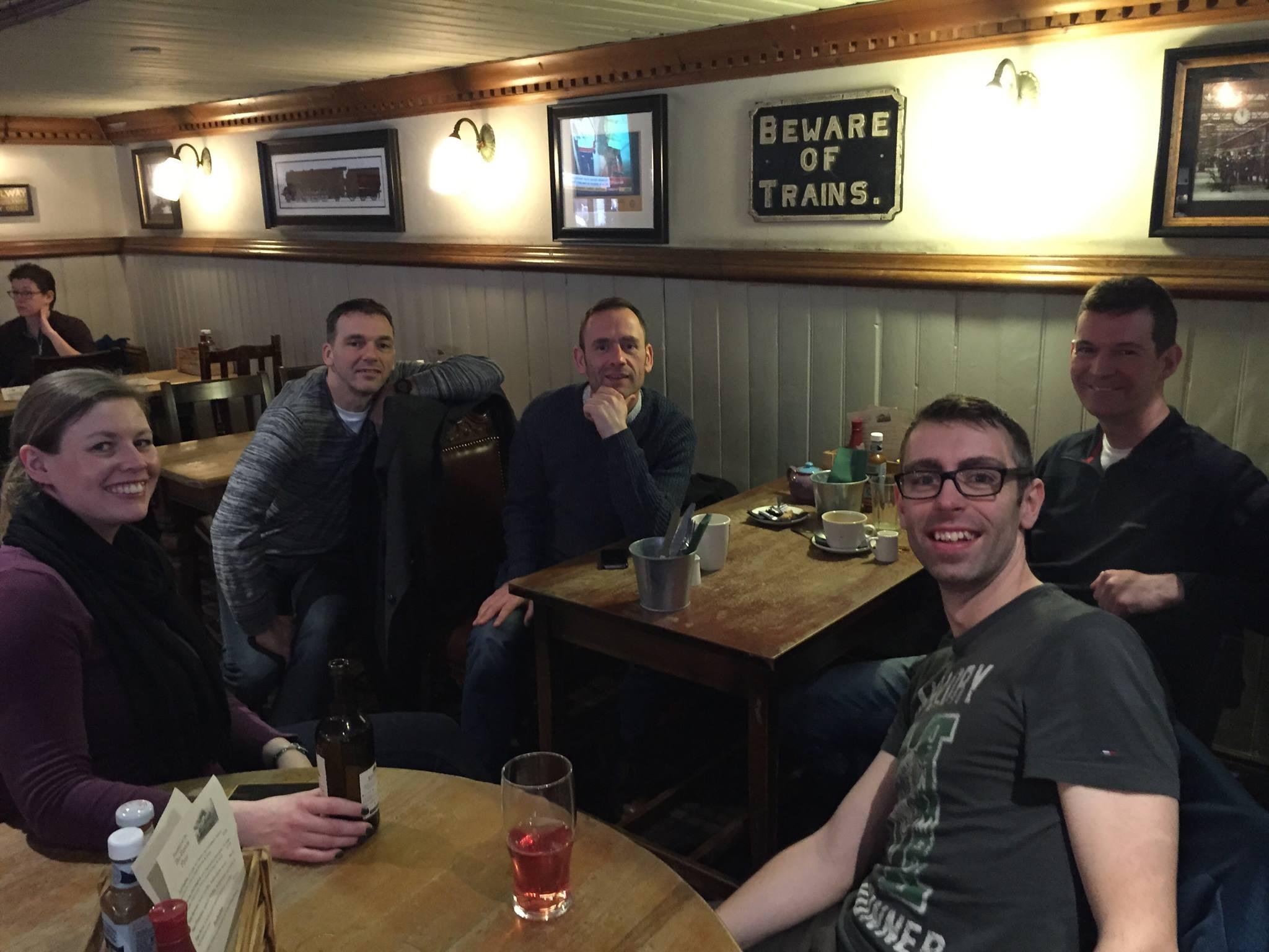 Steph, Steve, Alan, James and Stu.