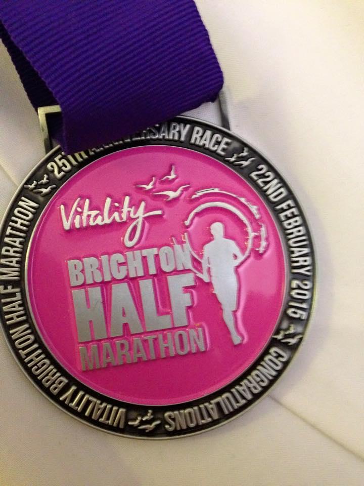 Brighton Half medal