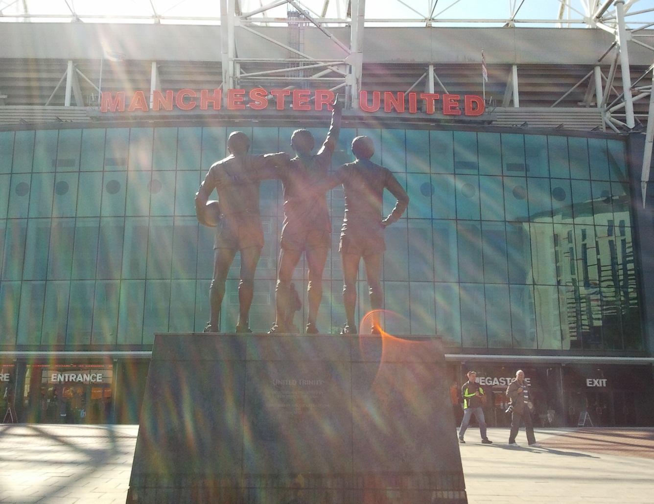 Old Trafford football stadium.
