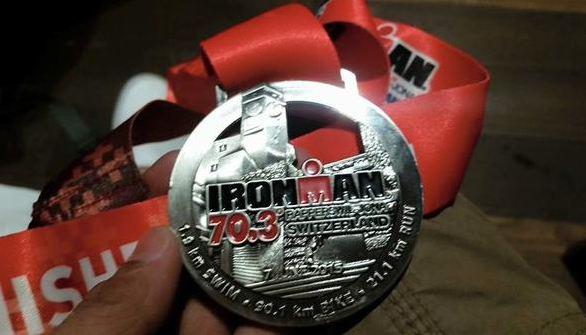 Bam's finisher's medal