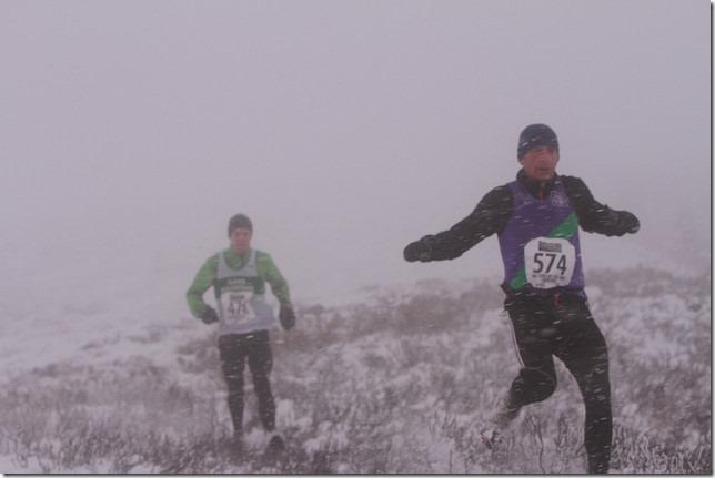 Carnethy 5 Hills Race: John Tollitt in action